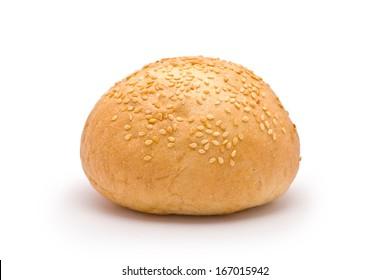 Hamburger Bun isolated on white