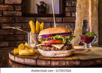 Hamburger with chees
