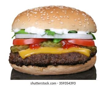 Hamburger Cheeseburger BBQ burger bun