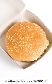 a hamburger close up shot