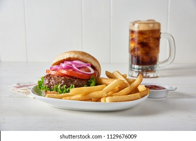 Hamburger and French Fries Combo w/ Coke or Root Beer