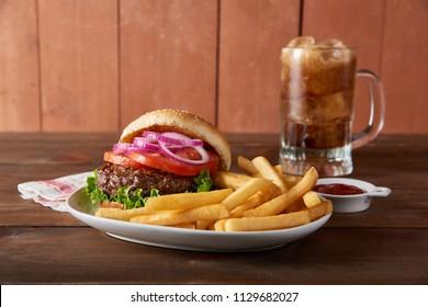 Hamburger with Fries Combo