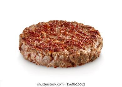 Hamburger meat isolated on white background