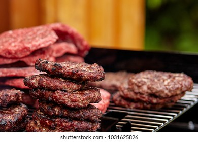 Hamburger Patties, delicious grilled