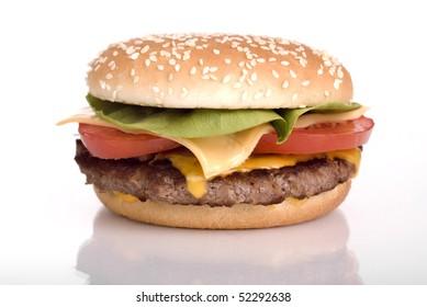 hamburger with salat tomato and chees