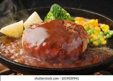 Hamburger Steak with Demi Glace Sauce