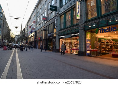 HAMBURG/GERMANY - APRIL 4 2017: Streets and buildings of Hamburg - the second largest city in Germany. Free and Hanseatic City. Europe