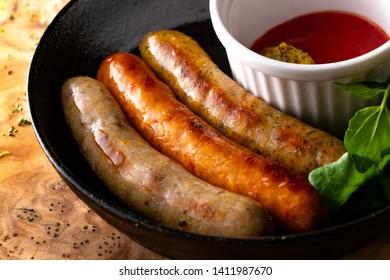 Hamd made sausage on plate