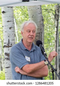 HAMILTON, MONTANA - JULY 15, 2018:  Professor Gordon Dougan, British microbiologist and Head of Pathogen Research and a member of the Board of Management at the Wellcome Trust Sanger Institute.
