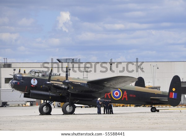 Hamilton On June 20avro Lancaster Aircraft Stock Photo (Edit