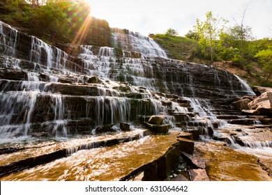 Hamilton Ontario Waterfall Albion Falls