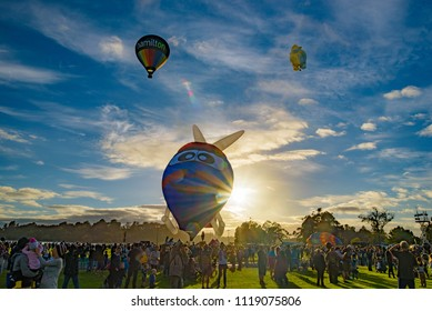 Hamilton, Waikato / New Zealand - March 22 2017: Hamilton hot air balloon festival, Balloons Over Waikato 2017