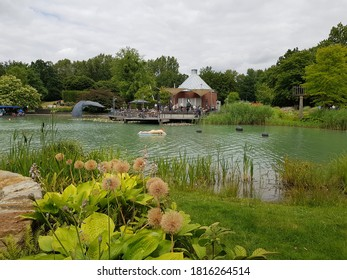 HAMM, NRW, GERMANY - 7 July 2019 Maximilianpark is a leisure park on the grounds of a former colliery