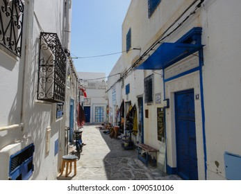 HAMMAMET, TUNISIA - JUNE 8 2014: Medina of Hammamet town in Tunisia. Peninsula of Cap Bon. Governorate of Nabeul