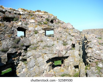 Hammershus Wall Castle Ruins on Bornholm