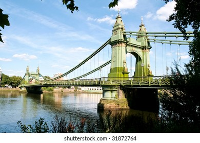 Hammersmith Bridge is a crossing of the River Thames in west London, just south of the Hammersmith town centre
