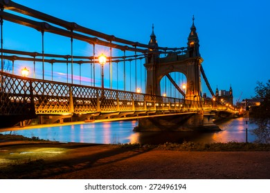 Hammersmith Bridge in London, England