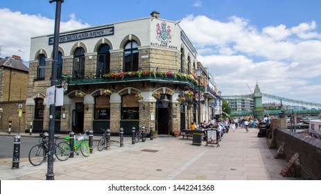 Hammersmith London UK July 2019 The Rutland Arms and Blue Anchor pubs used for bohemian rhapsody, Minder. The Sweeney. New Tricks, and many more.