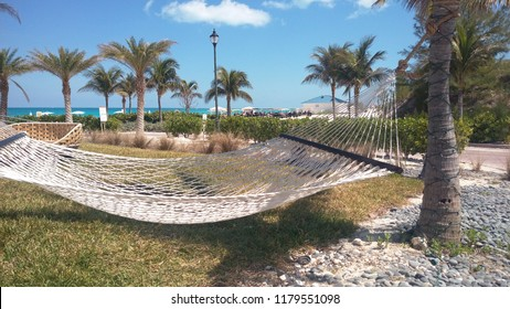 A hammock by the beach in Bimini, The Bahamas