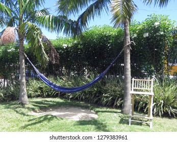 A hammock and a chair to rest peaceful under the palm trees - the 'holo holo' way of Hawaii (Kauai)