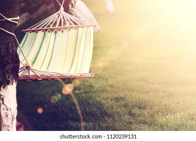 hammock tied to a tree