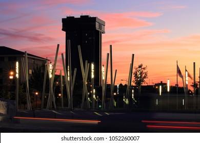 Hammond Tower at sunset Springfield Mo.