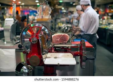 hamon meat slicer, food market