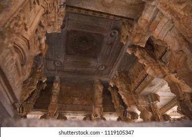 Hampi temple interior subculture