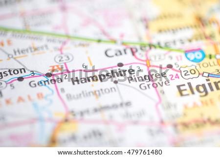 Hampshire Illinois Map.Hampshire Illinois Usa Stock Photo Edit Now 479761480 Shutterstock