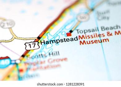 Hampstead. North Carolina. USA on a map