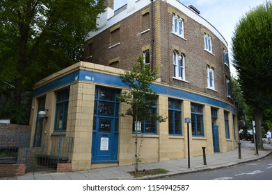 Hampstead,London/Uk-August 11 2018;  Magdala Tavern was once a Public House opposite Hampstead Heath.it was the pub where Ruth Ellis Last Person to be Hanged  in The Uk shot her Boyfriend in 1955.