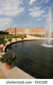 Hampton Court Palace gardens, England UK