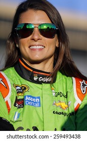 Hampton, GA - Feb 27, 2015:  Danica Patrick (10) smiles before qualifying for the QuikTrip Folds of Honor 500 at Atlanta Motor Speedway in Hampton, GA.