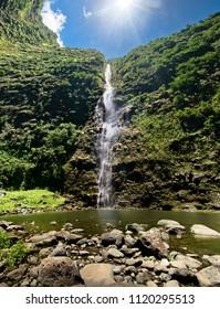 Hanakoa Falls, Kauai, Hawaii