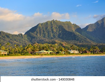 Hanalei Beach on Kauai, Hawaii