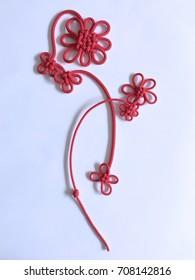 Hanamusubi; Japanese traditional knot, flower shaped design