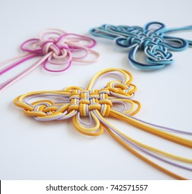 Hanamusubi; Japanese traditional knots with flower  and classical design