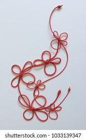 Hanamusubi(Japanese flower shaped knot)