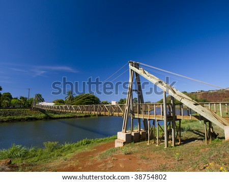 Hanapepe Swinging Bridge Kauai Hawaii Stock Photo Edit Now
