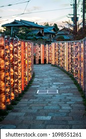 """Hanatoro, which means """"flower and light road"""", is an illumination event that take place in the Arashiyama district of Kyoto in December, when the streets are illuminated by thousands of lanterns."""