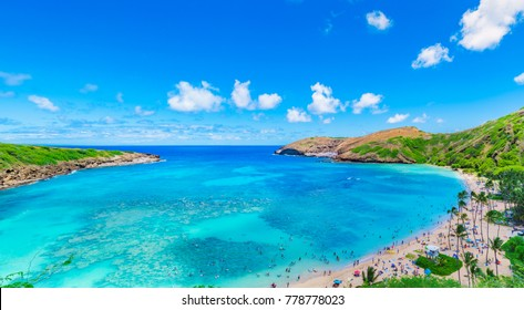 Hanauma Bay in Oahu,Hawaii