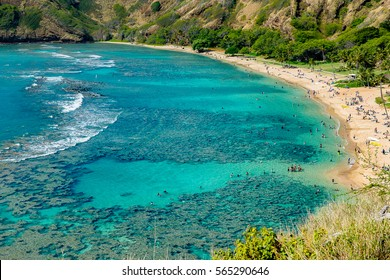 Hanauma Bay is one of the most famous snorkeling bay in Hawaii
