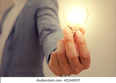 hand action icon symbol on business suit means business actions or activities use for empower, encourage, work, win, fight, victory business, or present work, business, products with light bulb