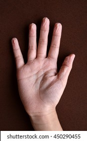 hand after swimming