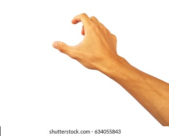 hand of asian man is Reach out to grab something.