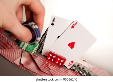 hand betting with winning hand a pair of aces