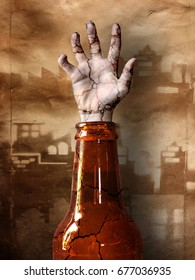 Hand in a bottle