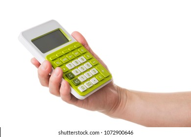 Hand with a calculator