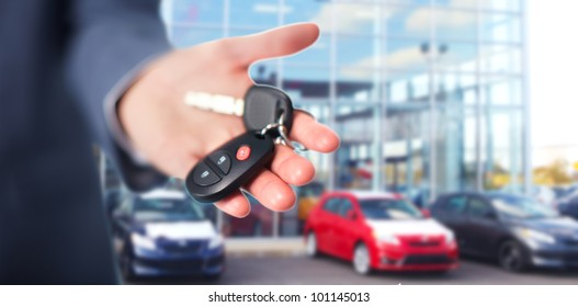Hand with a Car keys. Transportation. Driving.