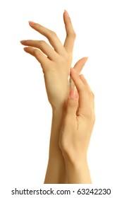 hand care - applying cream